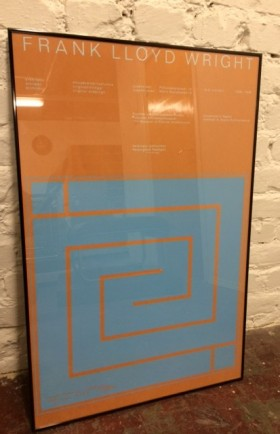 MYYTY! SOLD / FRANCK LLOYD WRIGHT POSTER