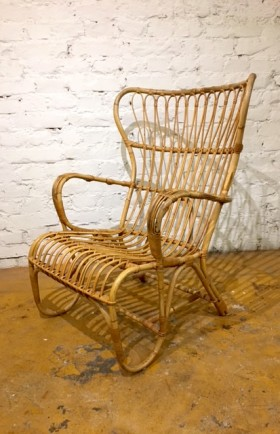 MYYTY! SOLD! / ROTTINKITUOLI / RATTAN CHAIR / 1950´S