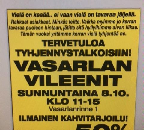VILEENIT SUNNUNTAINA 8.10.